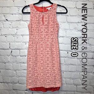 New York & Company pink sleeveless dress